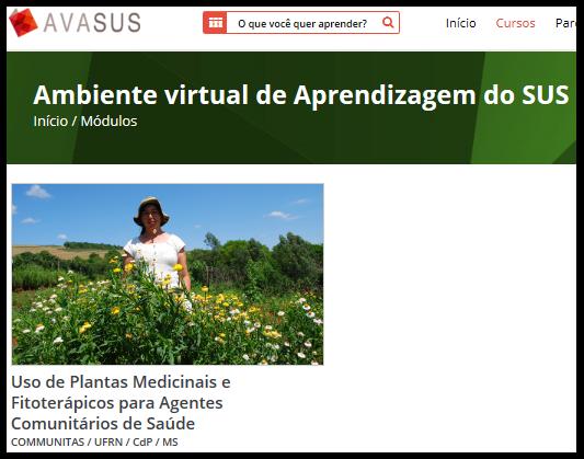 SUS lança curso online sobre medicina natural